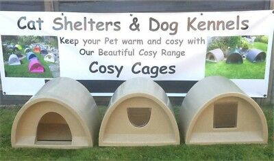 Cosy Cages Choice Of Entrances From £45.00 Outdoor Cat Shelter/kennel Cat Bed