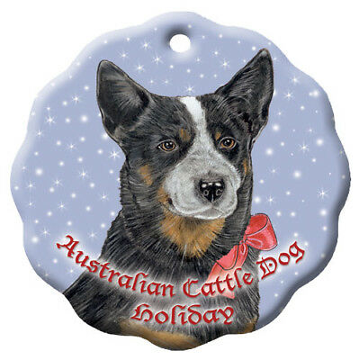 Australian Cattle Dog Holiday Porcelain Christmas Tree Ornament