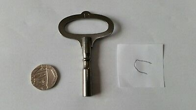 "Vintage Grandfather Mantle Clock Winding Key 3/16"" 4.8mm A/F Square No12"