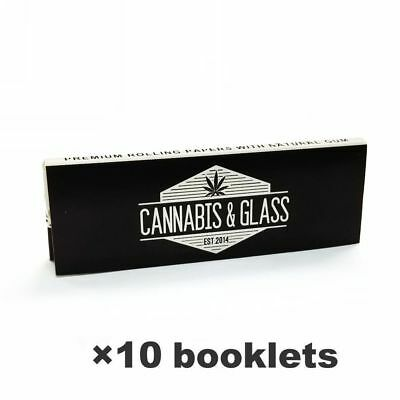 CA*NABIS & GL*SS HEMP Rolling Papers 78*44mm 10 Booklets=400 leaves smoking