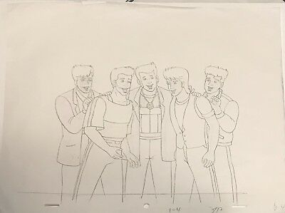 New Kids On The Block Original Animation Production Art Drawing DIC En