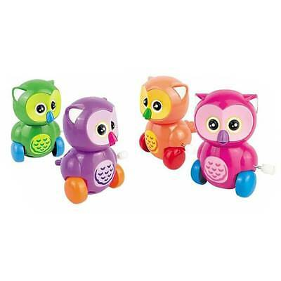 Cute Plastic Owl Shape Wind Up Toys Clockwork Toy For Boys Toy Gift Color Random