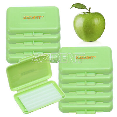 10 Packs Dental Orthodontic Wax for Bracket Gum Irritation Green-Apple Scent