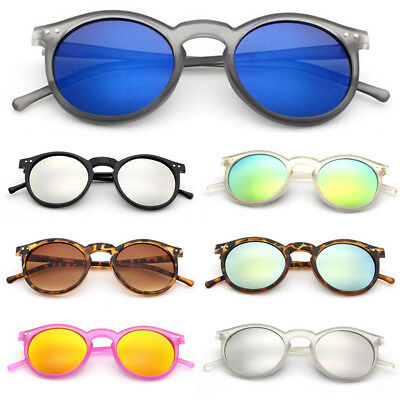 Unisex Women Men Retro Round Frame Sunglasses Outdoor Leisure Cat Eyewear US