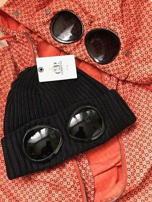 51742712541 FAKE C.P. Company Goggle Beanie Hat Black FAKE!