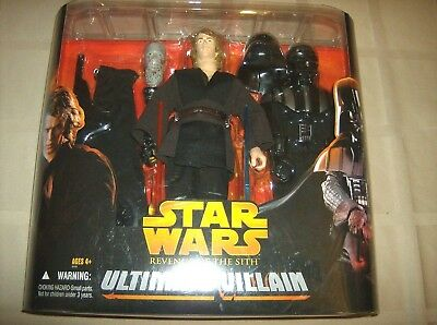 "NEW Star Wars 12"" inch Ultimate Villain Darth Vader Anakin Action Figure Set"