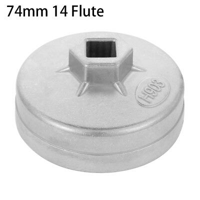 1 x 74mm 14 Flute Aluminum Oil Filter Wrench Socket Remover Tool for Vehicle