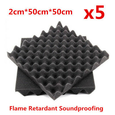 5x Flame Retardant Acoustic Studio Soundproofing Egg Crate Foam Sound Absorption