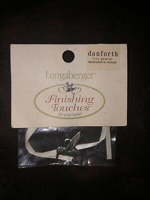 *new* Longaberger Homestead/finishing Touches/pewter Tie-On Hummingbird