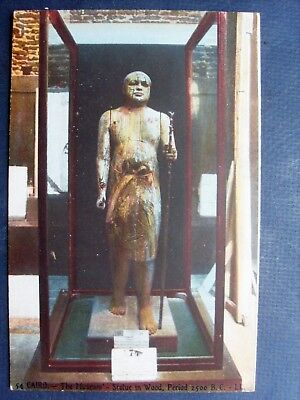 égypte , cairo ,the museum ,statue in wood