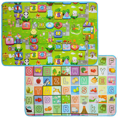 150 X 180Cm 2 Side Kids Crawling Educational Game Baby Play Mat Soft Foam Carpet