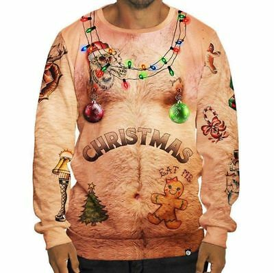 Unisex Mens Womens Ugly Christmas Sweater Hoodies Cosplay Xmas Knitted Pullover