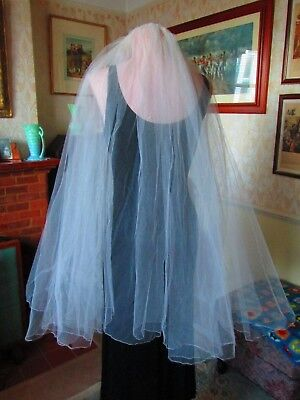 Original True Vtg Wedding Veil 70's/80's