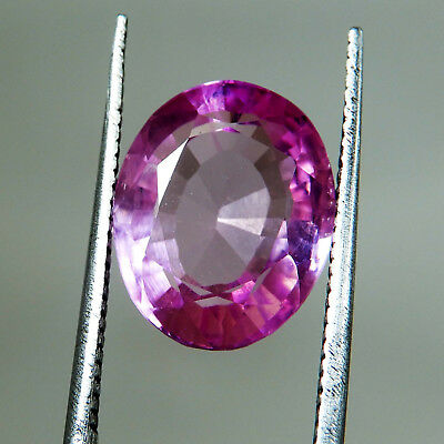 7.95 Ct Natural Certified Oval Cut Ceylon Pink Sapphire Loose Gemstone