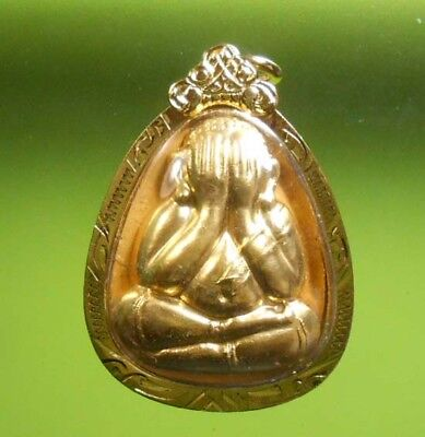 Awesome! Real Pidta Lp Koon Old Thai Amulet Very Rare !!!