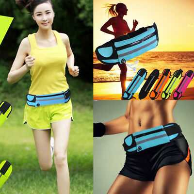 New Waterproof Sports Runner Waist Bum Bag Running Jogging Belt Pouch Zip Pack