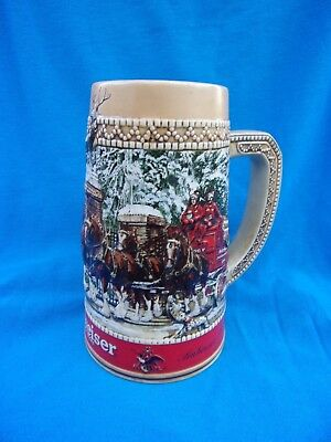 LOW BIN PRICE! Clydesdale Clean and Very Nice Budweiser Stein Great Image!
