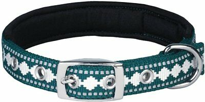 Cairn Rescue Blueberry Pet Soft Comfy 3M Reflective Jacquard Padded Dog Collar L