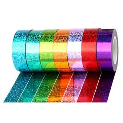 Holographic Hoop Tape Glitter Multi Dots Self Adhesive Sticky Backed Tape Golden