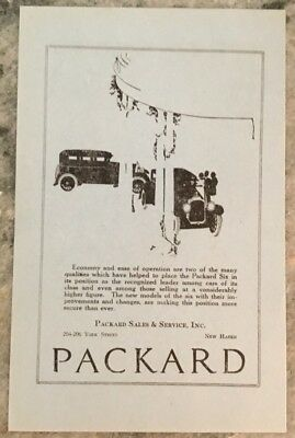 Authentic Vintage Illustrated Packard Dealership Advertisement