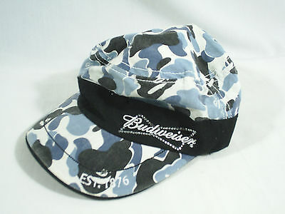 Budweiser Hat Cap Blue Camo Ladies Jems Bling Embroidered