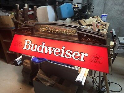 Vintage Budweiser World Champion Clydesdale Team Pool Table Light