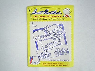 Aunt Martha's Hot Iron Transfers Bows and Flower Baskets #3027