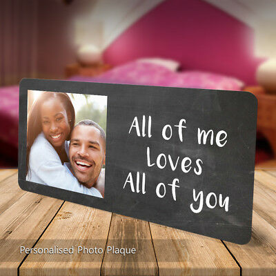 Personalised Love You Plaque Sign Gift Cute Couple Partner Photo Free Standing