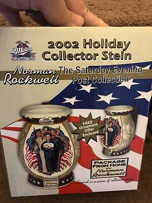 Package From Home Holiday Stein Mug Miller Beer Norman Rockwell Gg For Veteran