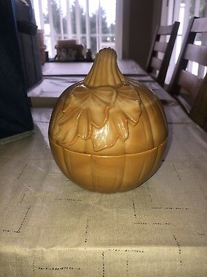 Longaberger Milk Glass Pumpkin Dish ~Excellent!