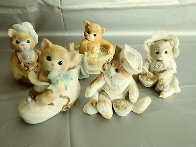 LOT of 5 Calico Kittens Baby by Enesco