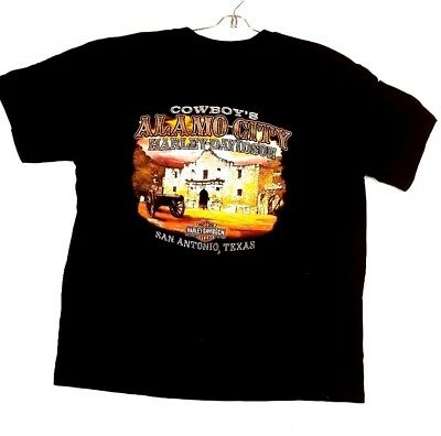 Harley Davidson Mens Size 2x Large Black Shirt Alamo City San