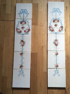 A Set Of Victorian Fireplace Tiles