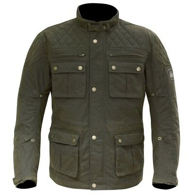 Merlin YOXALL Wax Motorcycle Jacket Waterproof - Olive - ALL SIZES