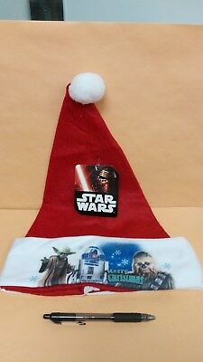 Star Wars Merry Christmas Red Stocking Hat with YODA, R2D2, CHEWIE
