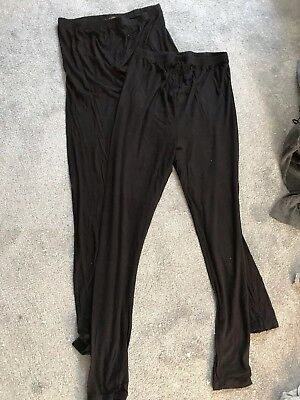 2 Pairs Of new look maternity Over Bump Leggings  Size M