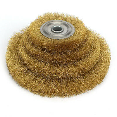 4''-10'' Soft Copper Wire Wheel Crimped Flat Brass Brush Derusting Polishing