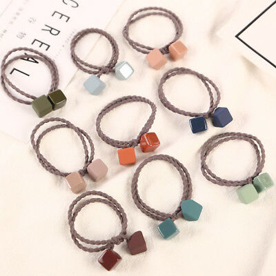 New 9Pcs Hair Band for Girl Ties Rope Ring Elastic Hairband Ponytail Holder