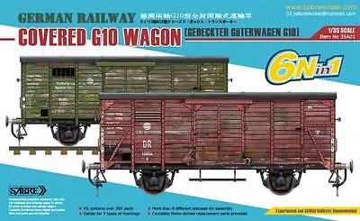 Sabre Model 35A01  Gedeckter Güterwagen G10 (6in1) Coverd G10 Wagon  1/35