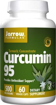 Curcumin Capsules High Strength 95% Curcuminoids Turmeric 60 x 500mg Jarrows