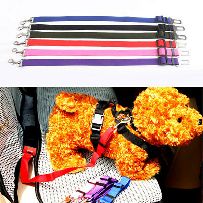 Pet Dog Safe Car Vehicle Seat Belt Harness Lead Pet Seat Nylon Belt Adjustable