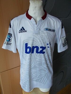 Adidas Auckland Blues New Zealand Vintage Rugby Shirt Jersey Maglia Rare