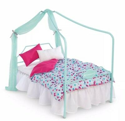 "American Girl truly me canopy bed for 18"" dolls New in box furniture ships fast"