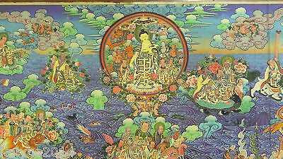 90CM Old Mysterious Tibetan hand-painted Cotton Thangka TK0081