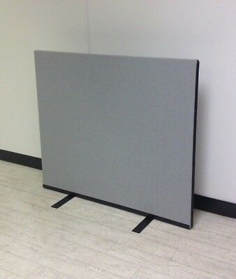 1150W x 1000H SilverGrey Woolmix PanelWarehouse Office Screen Divider Partition.