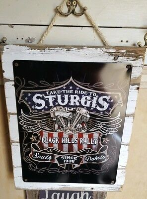 Vintage metal, barn wood, hand crafted gifts, signs. Sturgis, Route 66, Harley
