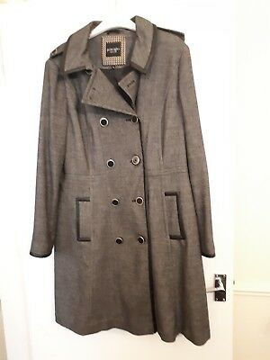 By Ben Knee Ladies Wool Coat De Grey Principles Length Mix Checked 8Fzw8qH