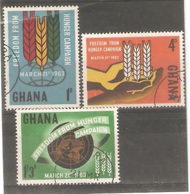 1963   Ghana  -  Sg   300 / 302  -  Freedom From Hunger   -  Used