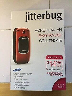 Samsung Jitterbug SCH-R220 Red Cellphone by Greatcall Great for Seniors
