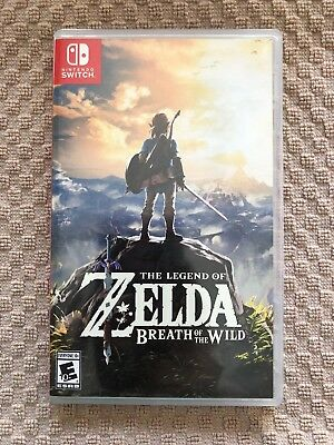 Legend of Zelda: Breath of the Wild (Nintendo Switch, 2017) EXCELLENT CONDITION
